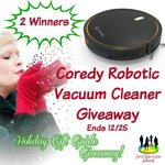 Coredy robotic vacuum cleaner giveaway